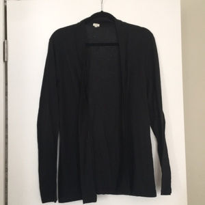 J crew Lightweight black open sweater XL